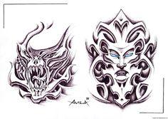 love this biomechanical #tattoo