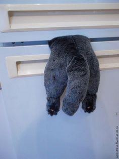Застрявший кот магнит на холодильник выкройка