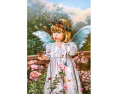 Angel Diy Paint By Numbers Kits .It is the perfect first step for beginners to enjoy the art of painting using our People paint by number collection.Paint your own wall art, even if you… Angel Images, Angel Pictures, Diy Broderie, I Believe In Angels, Little Blessings, Earth Design, Angels Among Us, Cross Stitch Art, Guardian Angels