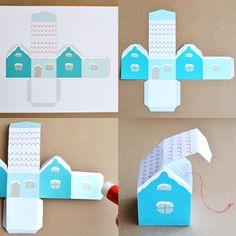 Décoration de Noël: Maison enneigée à imprimer gratuite | Blog Pluie de confettis