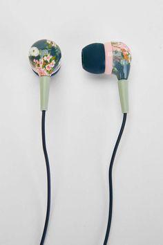 UO Printed Earbud Headphones - Urban Outfitters