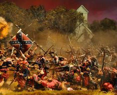 Here's another one from the Playset Addict. This 1/32nd scale diorama uses hand painted plastic figures and pre-painted metal figures fro various sources. More in our galleries here: http://www.michtoy.com/spip-3-0-5/?-Collectors-and-Their-Collections-