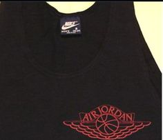 AJ 1 - Black colour range Basic Vest/Tank top 1985-86 Blue tag