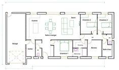 plan maison 120m2 plain pied