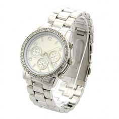Metal Boyfriend Designer Chrono Style Crystals Watches Wristwatch 5Colors
