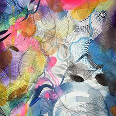 "192 Likes, 7 Comments - Helen Wells (@helenwellsart) on Instagram: ""Corner of a new piece of art I'm working on today! #artcorner #helenwells #colourandpattern…"""