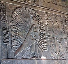 Relief of Horus / Ra Horakhty at Philae Temple, Egypt