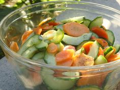 This is a great recipe that came from my favourite cooking show, Chef at home. So simple and delisious. Soothing for the soul and body. Cucumber Carrot Salad, Carrot Salad Recipes, Scd Recipes, Cucumber Recipes, Indian Food Recipes, Ethnic Recipes, Recipies, Healthy Food Options, Healthy Foods To Eat