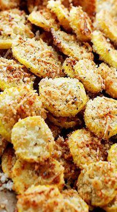 Garlic Parmesan Yellow Squash Chips