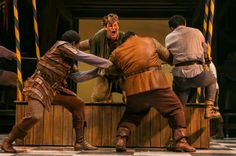 THE HUNCHBACK OF NOTRE DAME at Paper Mill Playhouse Photos by Jerry Dalia -- Michael Arden as Quasimodo and the Hunchback cast