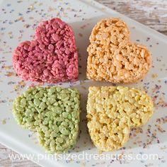 rice krispie treat hearts pops