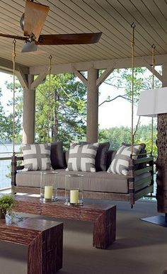 for an outdoor space | southern charm - this reminds me of swinging on my grandparents porch in NC.