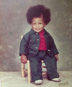"This baby photo of Pharrell makes us really ""Happy"" #TBT"