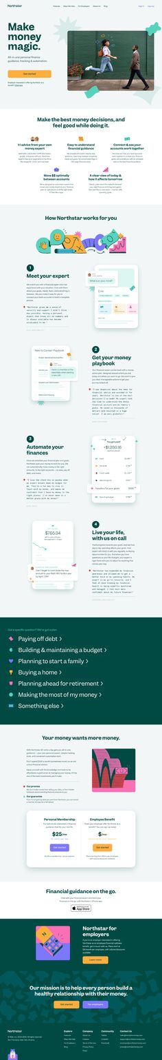 Website Design Inspiration, Landing Page Inspiration, Design Ideas, Landing Page Builder, Landing Page Design, Landing Page Examples, Money Magic, Page Web, Web Design Tutorials