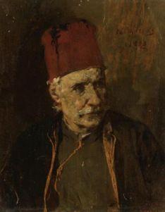 Greek Men, European Paintings, Impressionist, 19th Century, Modern Art, Auction, Portrait, Artist, Prints