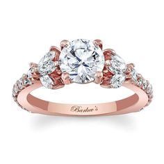 Rose Gold Engagement Ring 7966LP