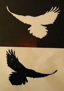 saraccino: Paper cuts - crow pattern