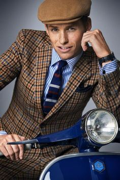 PLAID LAD: Outtakes from GQ Magazine's 2014 Men of Style shoot with Eddie Redmayne.