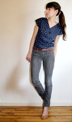 Afternoon blouse / Jennifer Lauren vintage // Jolies bobines