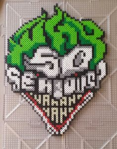 "Joker ""So Serious?"" Perler Bead Sprite"