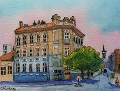 "Nitra, Slovakia - 5"" x 7"" watercolor on paper by Marcy Brennan  $25 marcybrennanart.blogspot.com"