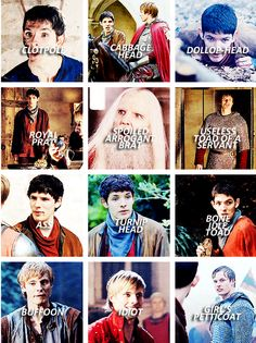 Insults from Merlin and Arthur