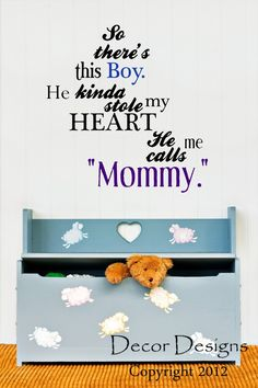 So There's This Boy Mother and Son Quote Vinyl Wall Decal Sticker
