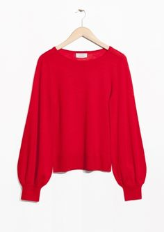 & Other Stories | Billow Sleeve Sweater