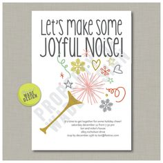 Printable Holiday Christmas Party Invitation Digital   WadeDesignPrintables via Etsy