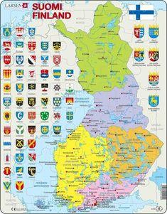 Coat of Arms. Lappland, Helsinki, Scandinavian Tattoo, Finnish Words, Finnish Language, Finland Travel, Scandinavian Countries, Star Chart, Fjord