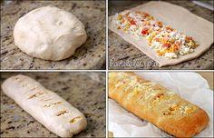 PANELATERAPIA - Blog de Culinária, Gastronomia e Receitas: Baguete Recheada