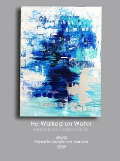 30x40 Original Blue Abstract Painting by geordannatheartist