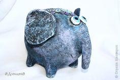Поделка изделие Папье-маше Влюбленные слон Бумага Кружево Шарики воздушные фото 2