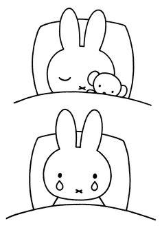 nijntje zoeken tekeningen kleurplaten slapen