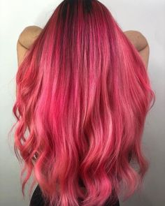 Colourful Hair creates a wave of pink hues with Bunny and Bubblegum Rose Unicorn Hair 💞 Pale Blonde Hair, Medium Blonde Hair, Pink Hair Dye, Hair Dye Colors, Dyed Hair, Rose Hair Color, Hair Color Shades, Fantasy Hair Color, Unicorn Hair Color