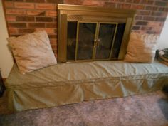 Make A Hearth Cushion To Baby Proof Your Fireplace Bonus It S