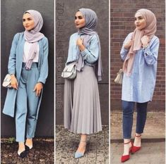 Over 36 new ideas for fashionable outfits in the summer - Muslim Fashion Summer - Modest Fashion Hijab Fashion Summer, Modern Hijab Fashion, Muslim Women Fashion, Street Hijab Fashion, Hijab Fashion Inspiration, Modest Fashion, Fashion Ideas, Casual Hijab Outfit, Hijab Chic