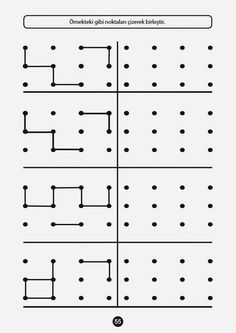 Patterns with template ideas 18 Month Activities, Activities For Kids, Preschool Writing, Kindergarten Activities, Kids Education, Special Education, Visual Perception Activities, Printable Mazes, Free Printable