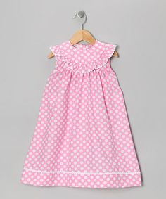 Take a look at this Pink Polka Dot Dress - Infant, Toddler & Girls by Sweet Teas Children's Boutique on #zulily today!