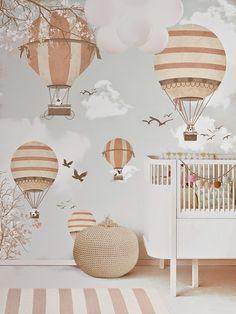 little hands: Little Hands Wallpaper Mural - Balloon Ride II