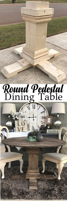 do it yourself divas DIY Round Restoration Hardware Table and
