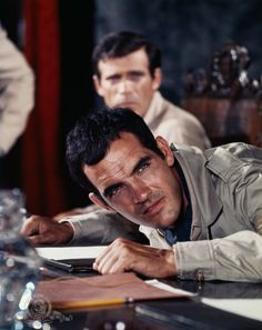 #Sixties | Gary Raymond and Christopher George (background) in The Rat Patrol, 1966-68