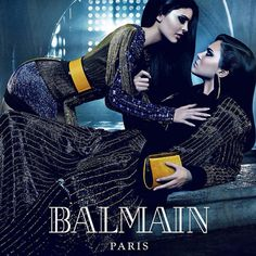 Mais que font Kendall et Kylie Jenner dans cette nouvelle campagne de Balmain?   HollywoodPQ.com