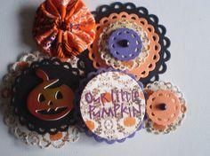 Handmade Halloween Scrapbooking Embellishments by ScrappyNan