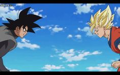 giphy.gif (480×300) wow! Goku vs Black Goku!