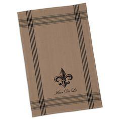 French Grain Sack Printed Dishtowels - Fleur de Lis Kitchen - French Inspired Kitchen Textiles #kitchen #neutral kitchen