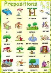 a lot of different sheets for prepositions. Very pretty