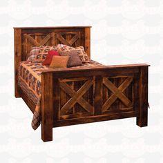 Fireside Lodge Furniture B10 Barnwood Barndoor Style #Bed http://www.santaferanch.com/