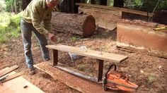 turning a tree into lumber using a homemade Alaskan Mill - Cerca con Google