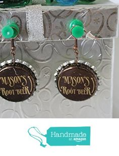 Masons Rootbeer Upcycled Bottlecap Earrings from Southern Women Crafts…